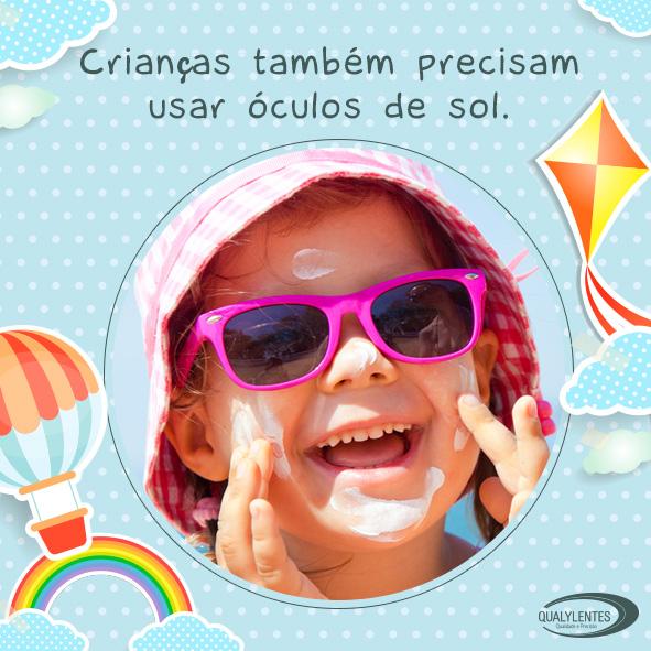 Crianças Também Precisam Usar Óculos de Sol   Qualylentes 18f187e212